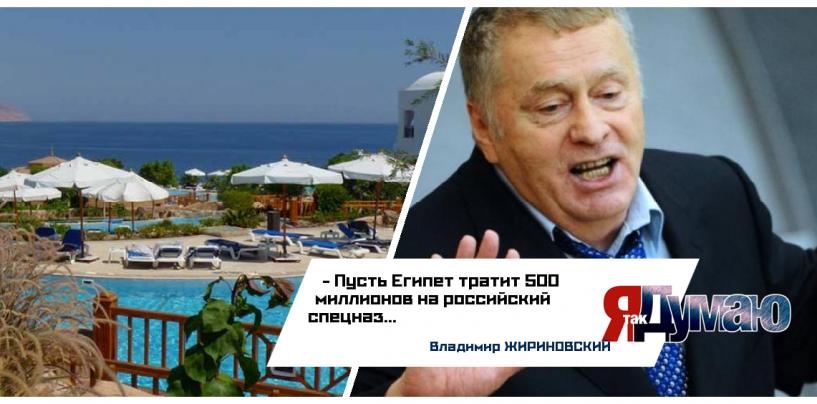 Российских туристов в Египте должен охранять спецназ — Владимир Жириновский