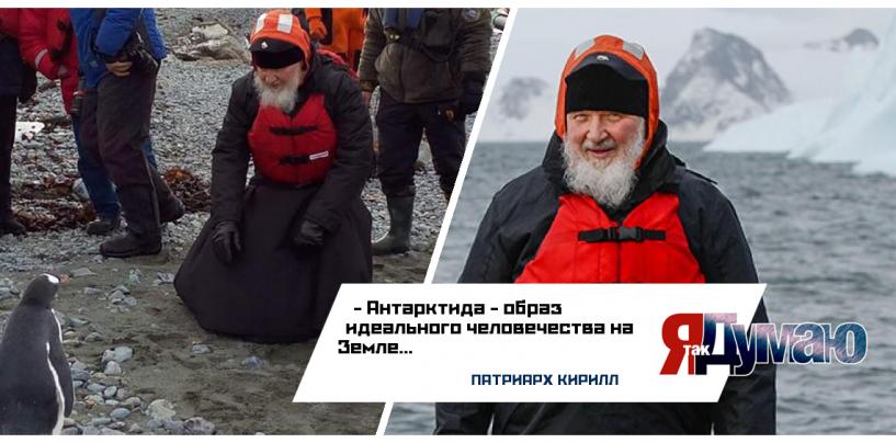 Кирилл встретился с пингвинами! Видео общения патриарха и морских птиц.