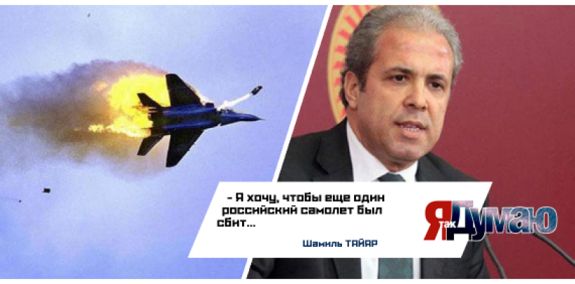 Шутки по-турецки:»Я хочу, чтобы еще один российский самолет был сбит».