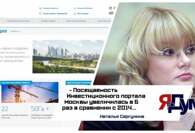 Шестикратный рост посещаемости за четыре года продемонстрирован Инвестиционным порталом Москвы