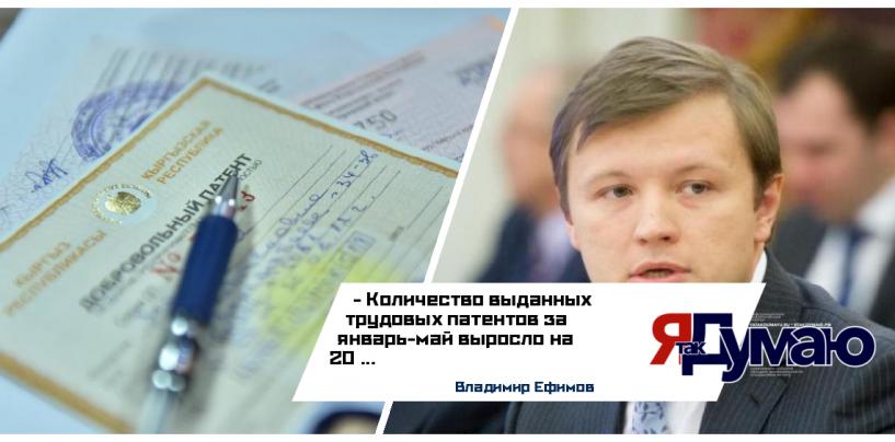 Владимир Ефимов сообщил об увеличении числа выданных в Москве трудовых патентов